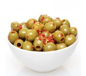 Green spicy pitted olives 2.9kg