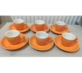 Tea cup colortex 6 set